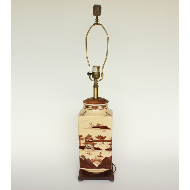 Vintage Chinese Table Lamp - Image 2 of 6