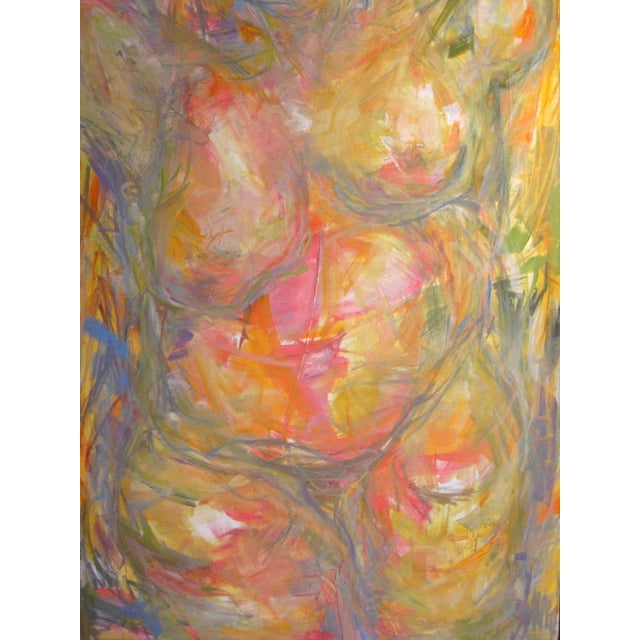 """Abstract Figure Oil Painting Trixie Pitts 60""""x48"""" - Image 1 of 2"""