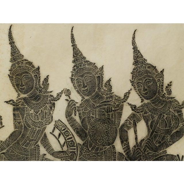 Thai Woodblock Temple Print - Image 2 of 3
