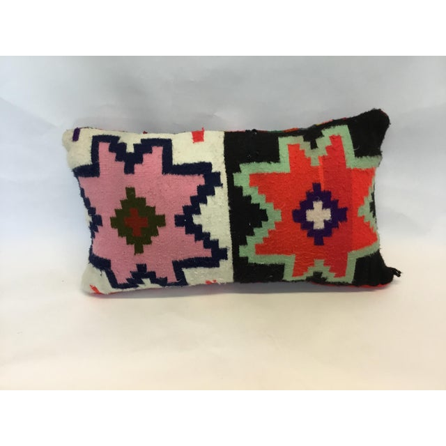 Tunisian Handmade Kilim Pillow - Image 2 of 3