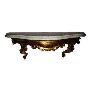 Regency French Console Marble Wall Bracket