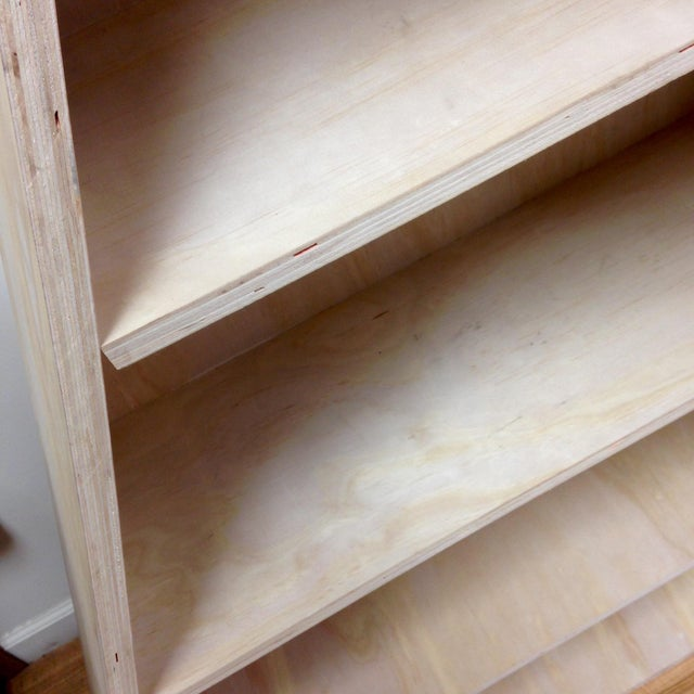 Triangular Natural Maple Bookshelf - Image 7 of 8