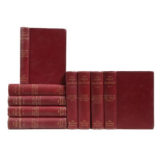 Currant & Gilt Shakespeare Library - Set of 9