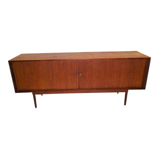 1960s Jens Quistgaard for Lovig Dansk Design Tambour Door Sideboard .
