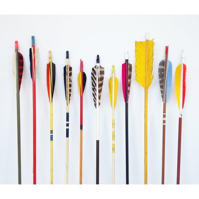 Image of Vintage Multi-Color Wood Arrows- Set of 10
