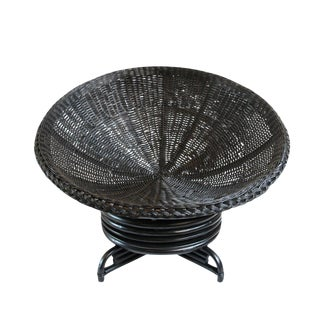 Rattan Swivel Dish Chair