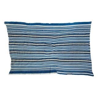 Vintage Indigo Stripe Throw