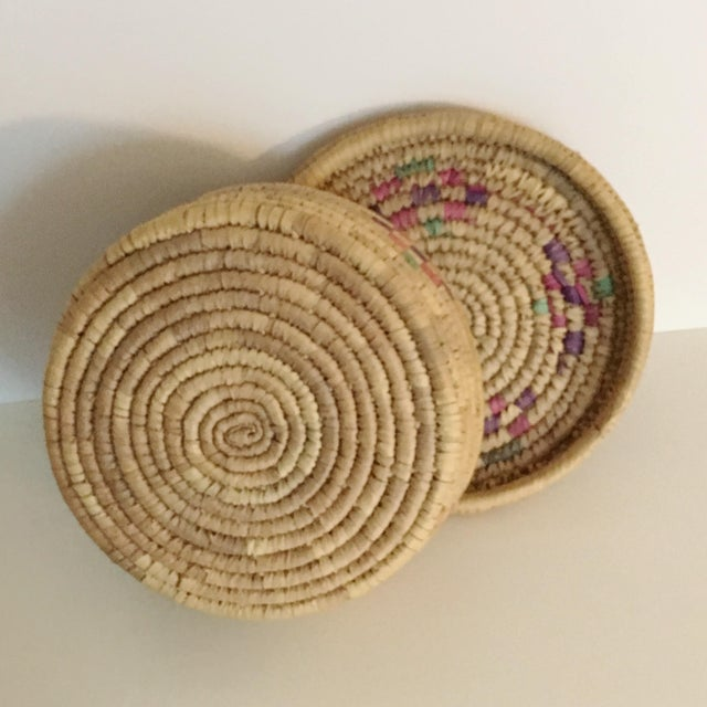 Vintage Boho Chic Hand Woven Basket - Image 6 of 7