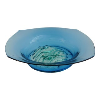 Vintage Blenko Glass Centerpiece Bowl