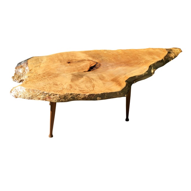 Maple Live Edge Cocktail Table - Image 2 of 6