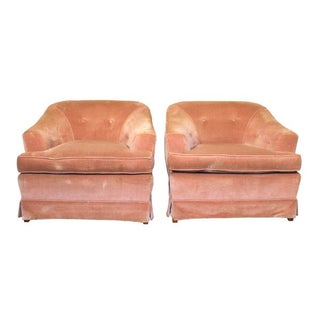 Vintage Barrel Lounge Chairs - A Pair