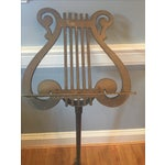 Image of Antique Neoclassical Brass Music Stand