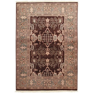 "Ziegler, Hand Knotted Traditional Area Rug - 4' 3"" X 6' 1"""