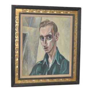 Russ Shattuck Mid-Century Oil Portrait, C.1953