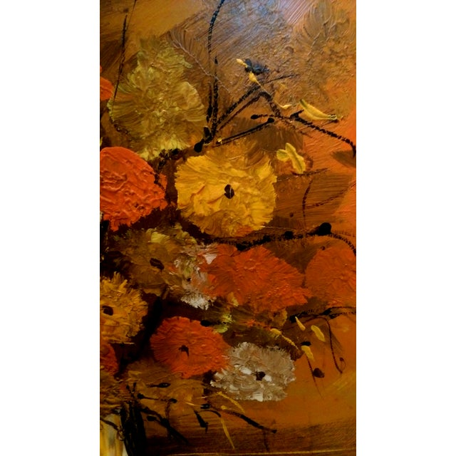 """Mid Century Floral Painting - Signed """"Clare"""" - Image 5 of 10"""