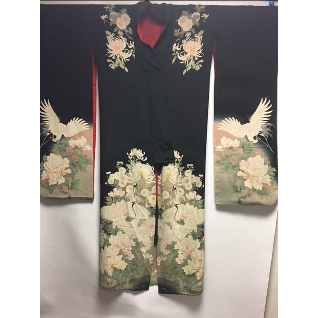 1940's Silk Screened Adult Kimono - Image 8 of 11
