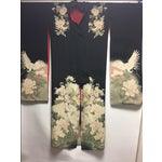 Image of 1940's Silk Screened Adult Kimono