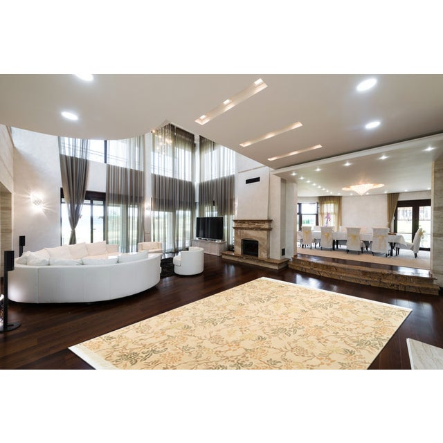 Contemporary Hand Knotted Wool Rug - 7′10″ × 9′9″ - Image 2 of 4