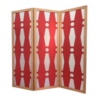 Red & White Room Divider