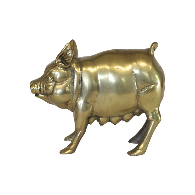 Brass Mother Pig Figurine - Image 1 of 5