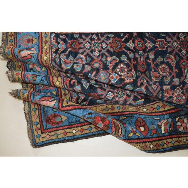 """Antique Persian Wide Runner- 3'10"""" X 9'7"""" - Image 10 of 11"""