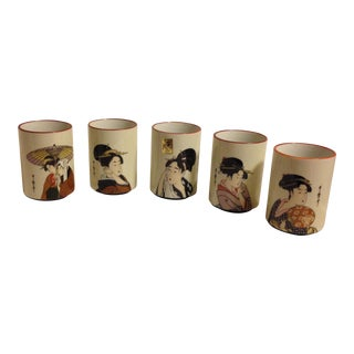 Kafuh Japanese Geisha Cups - Set of 5