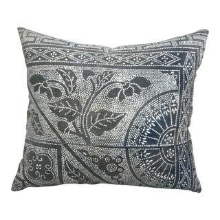 Batik Patterned Sunburst Pillow