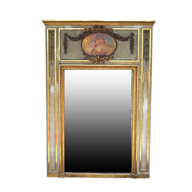 French Trumeau Mirror - Image 1 of 5