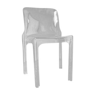 Modern Lucite Accent Chair