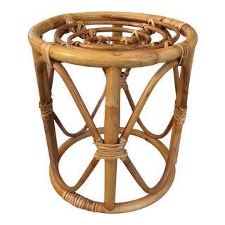 Vintage Boho Chic Bamboo Stool