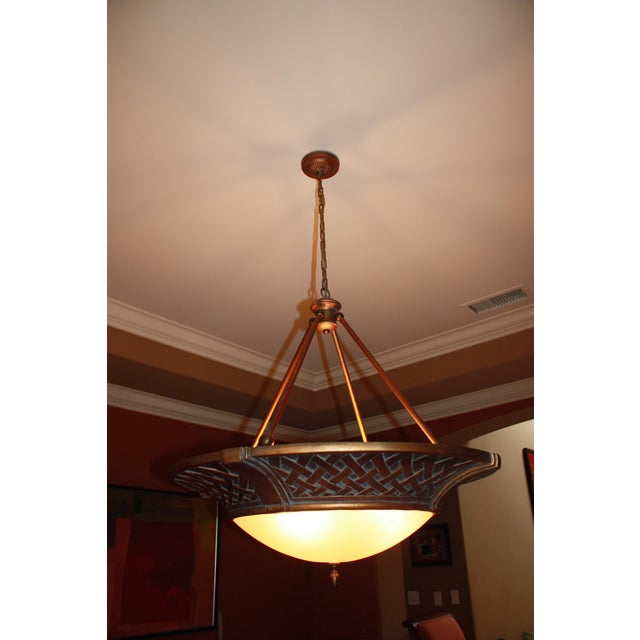 Large Tangier Conection Golden Bronze Chandelier - Image 4 of 5