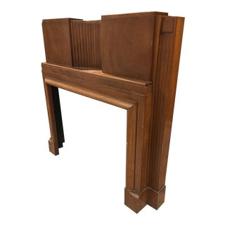 Art Deco Wood Mantle