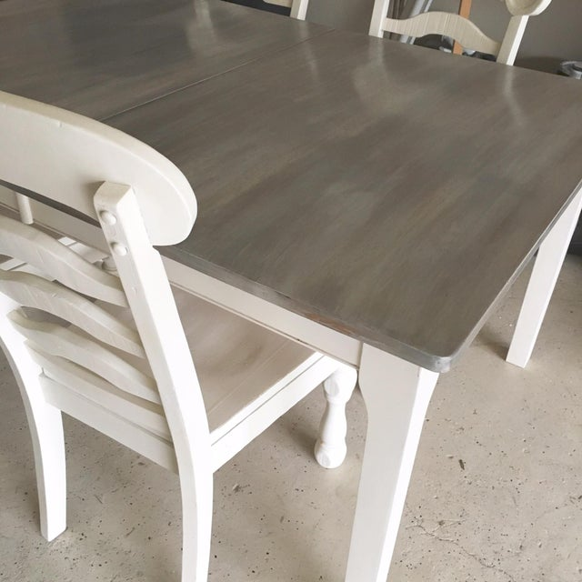Rustic Pine Wood Dining Set - Image 4 of 10