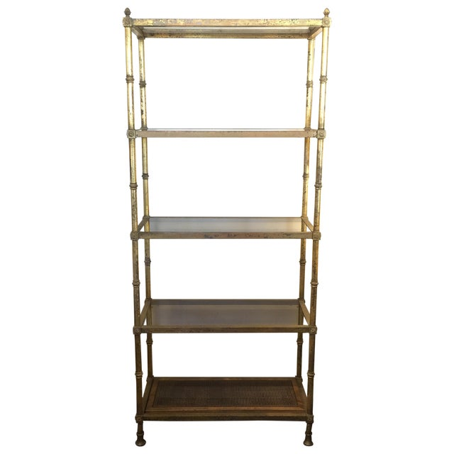 Maison jansen 5 shelf etagere chairish - Etagere faite maison ...