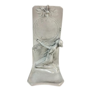 Art Nouveau Style Pewter Fairy Display Stand
