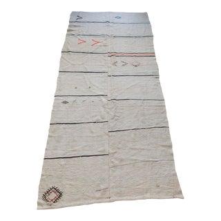 1960s Modern Style Turkish Kilim Wool Rug - 5′3″ × 12′4″