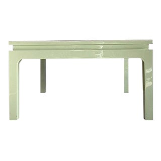 Karl Springer Style Green Lacquered Coffee Table