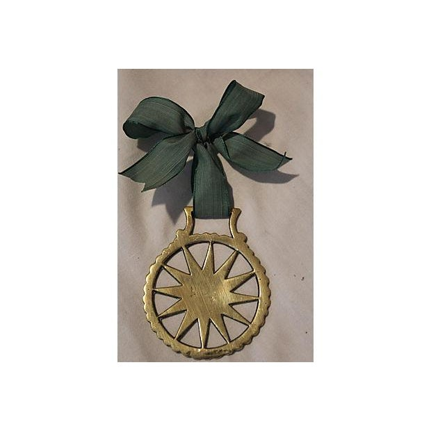 Antique English Horse Brass Starburst Ornament - Image 2 of 3