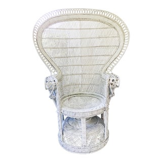 Vintage White Peacock Chair