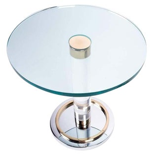 """O"" Line Occasional Table by Charles Hollis Jones"