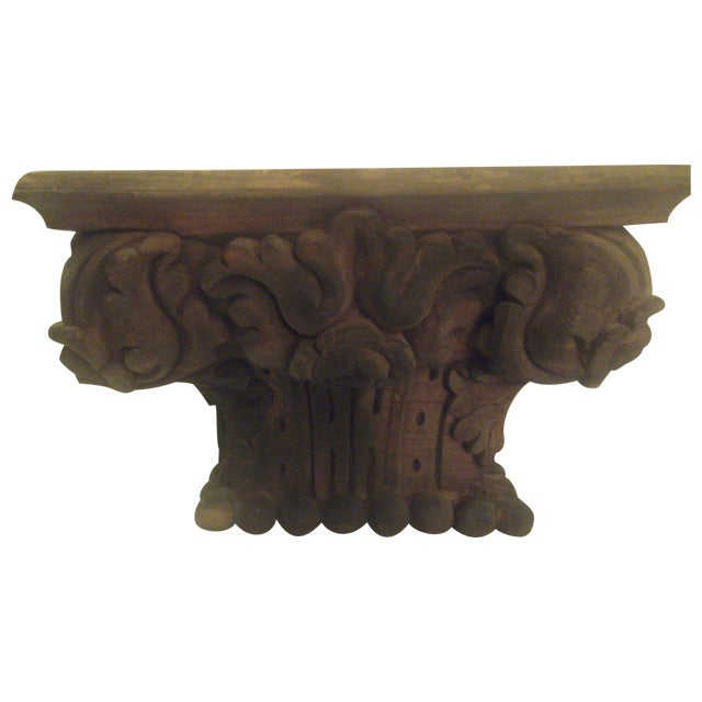 Hand carved column capital chairish