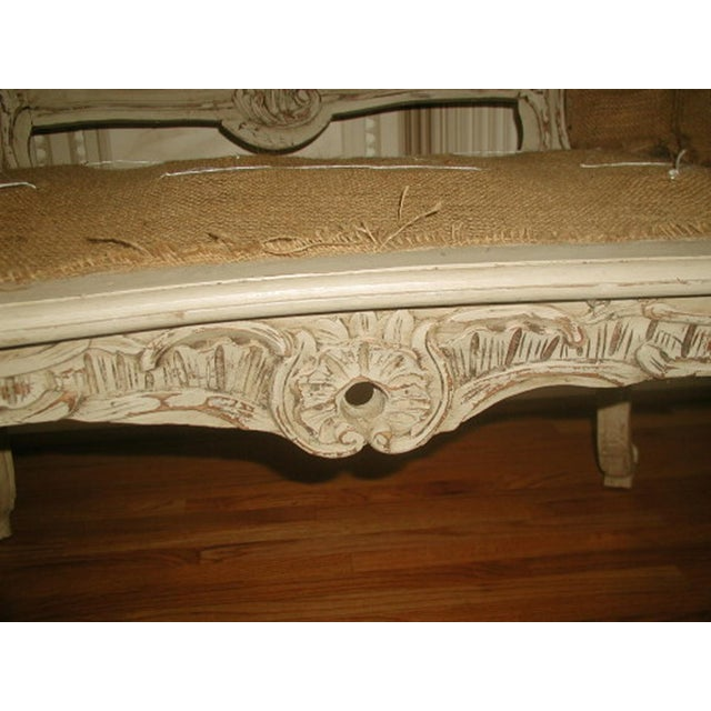 French 19th C. Hand Carved & Caned Settee - Image 4 of 10
