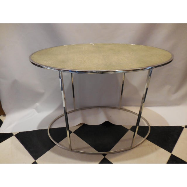 Theodore Alexander Oval Shagreen Top Table - Image 4 of 6
