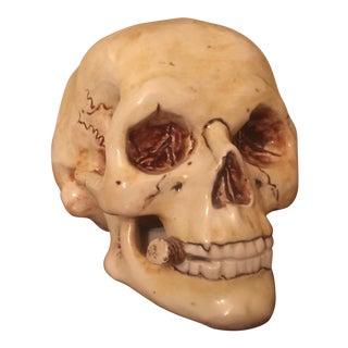 Van Gogh Inspired Skull Smoking Pottery