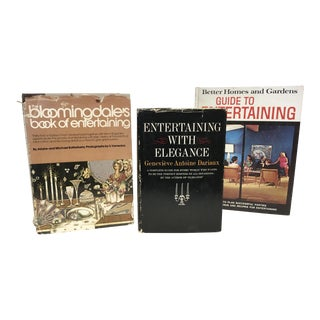 Vintage Guide to Entertaining Books - Set of 3