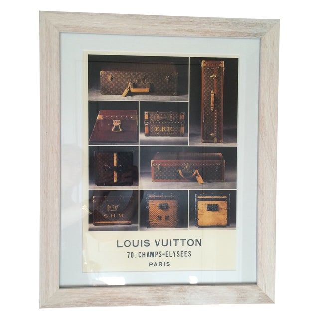 Louis Vuitton Framed Luggage Print from Paris - Image 1 of 7