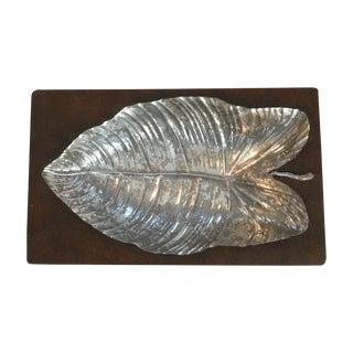 Ceramic Silver Leaf Catchall