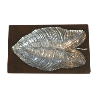 Ceramic Silver Leaf Catchall