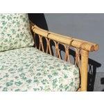 Image of Vintage Mid-Century Bamboo Rattan Chair & Ottoman