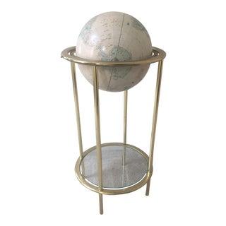 Vintage Globe With Glass Shelf